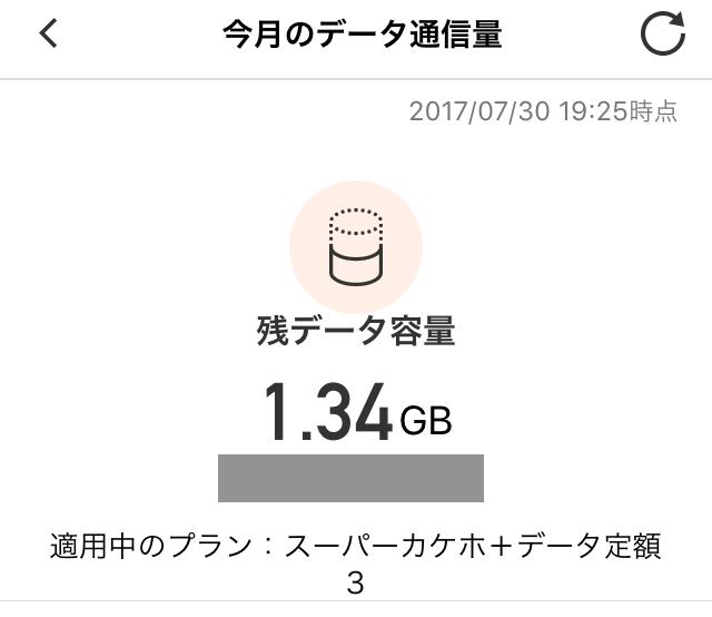 残データ容量