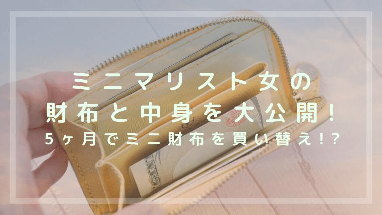 ミニマリスト女の財布と中身を公開!たった5ヶ月でミニ財布を買いかえ?