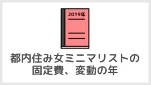 【2019年】都内住み女ミニマリストの固定費、変動の年