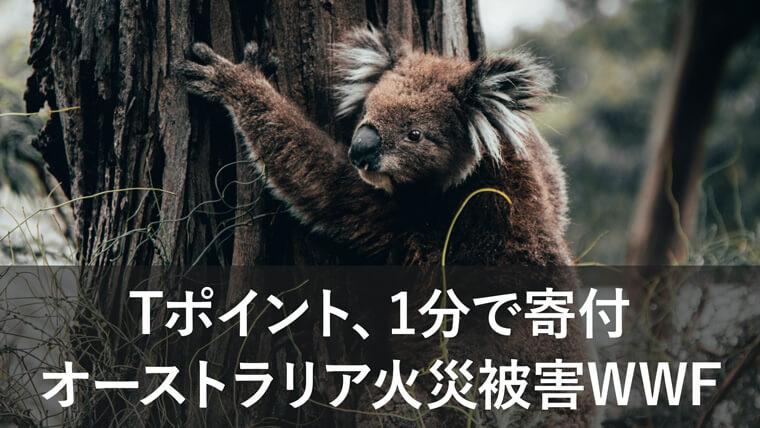 Tポイント、1分で寄付!オーストラリアの火災被害支援WWFへ寄付する方法